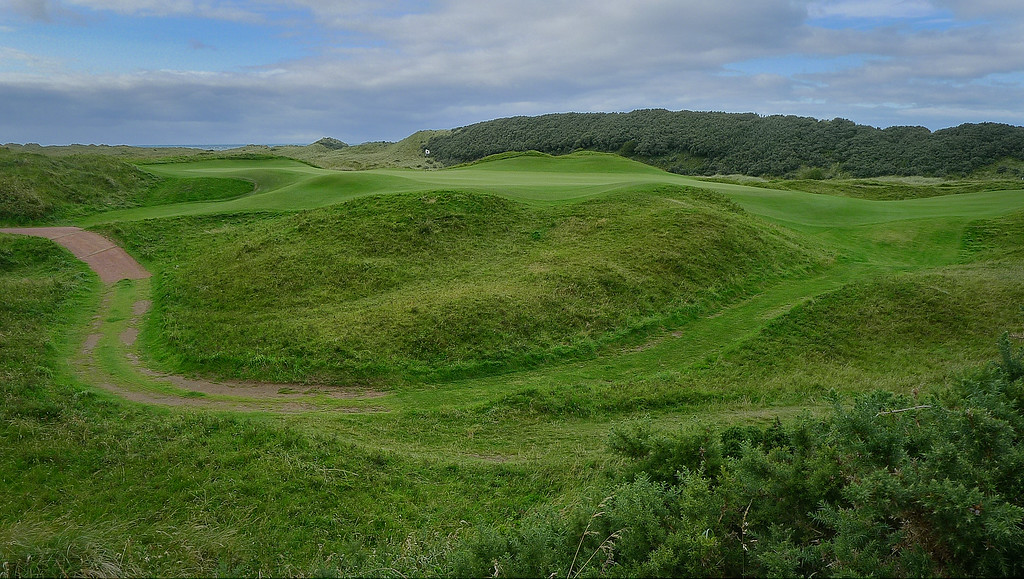A green at Royal Portrush Golf Club