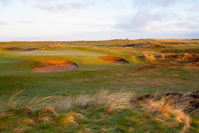 Dawn light at Prestick Golf Club, 15th hole