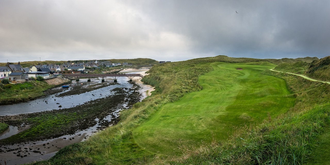 The par 3 4th hole at Cruden Bay