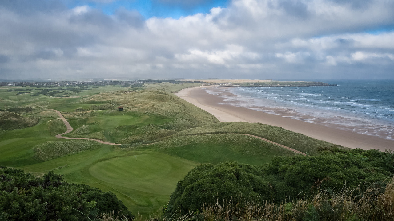 A view from the 9th tee box at Cruden Bay