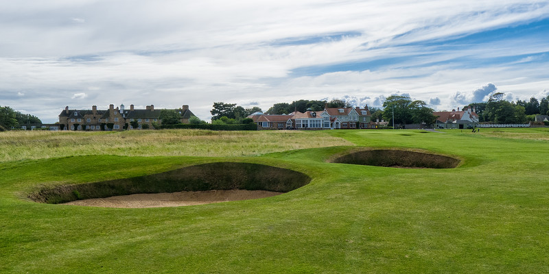 A view from the 18th fairway at Muirfield