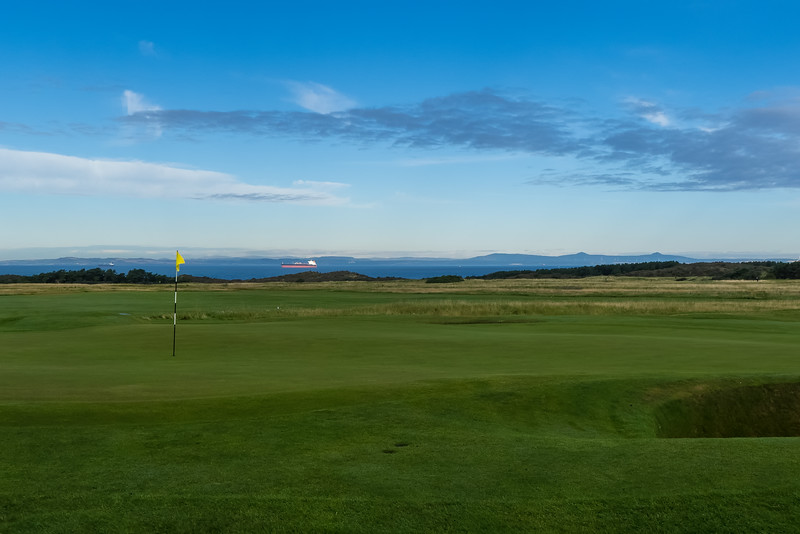 A tanker on the Firth of Forth as seen from Muirfield