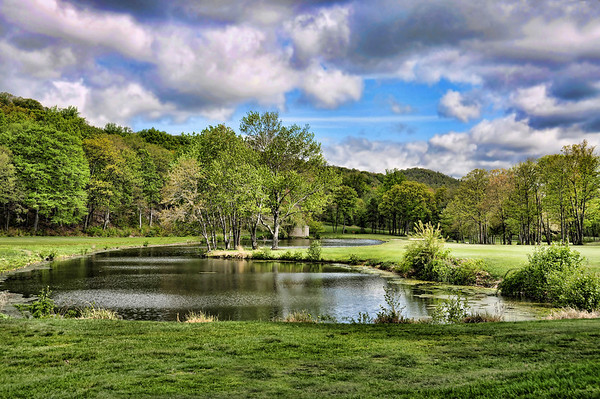 A SHOT OF THE PONDS BETWEEN THE 17TH AND 18TH HOLES.
