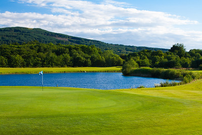 Green and water hazard, The Carrick Golf Course