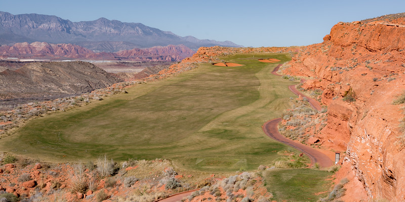 The 12th fairway on Sand Hollow Golf Resort