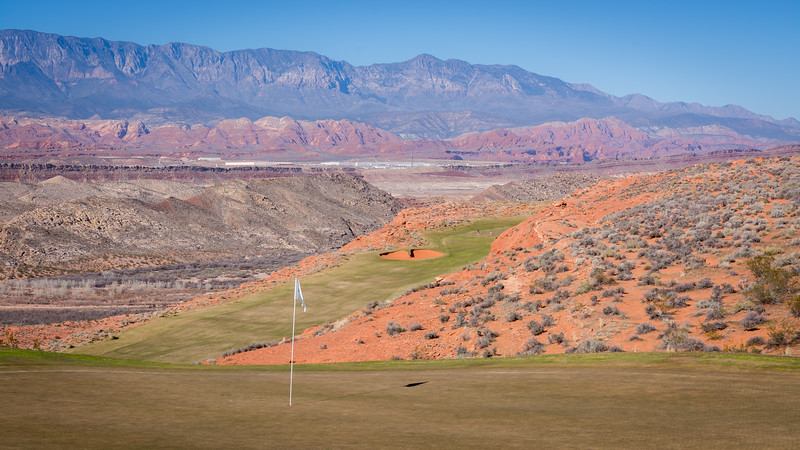 A view from the 11th green at Sand Hollow Resort