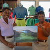 Ladies in the pro shop at Robert Trent Jones II Course at Four Seasons Resort on Nevis. Thanks for a great week!