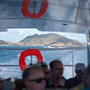 Another look towards St. Kitts during journey across the sea to Nevis