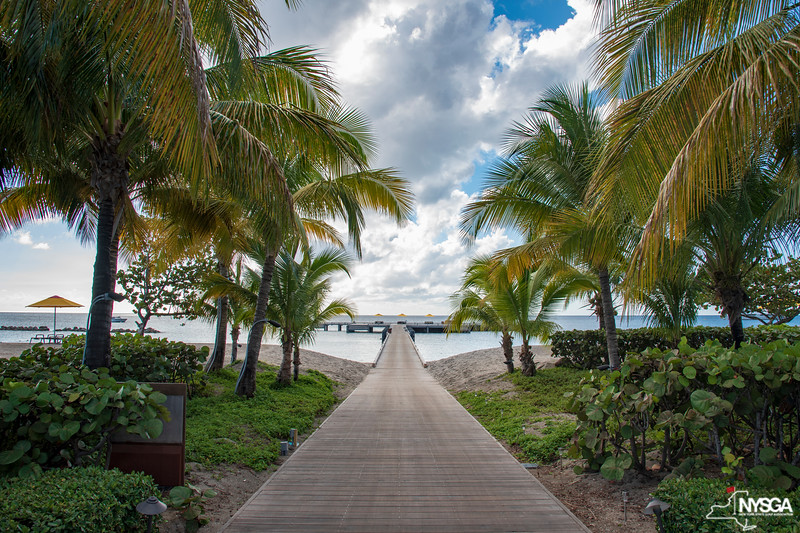The dock at Four Seasons Resort on Nevis