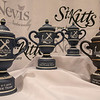 A few of the event trophies on display at the 2019 St Kitts & Nevis Admirals Cup