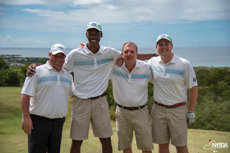 An NYSGA team having fun during the 2019 St. Kitts & Nevis Admirals Cup