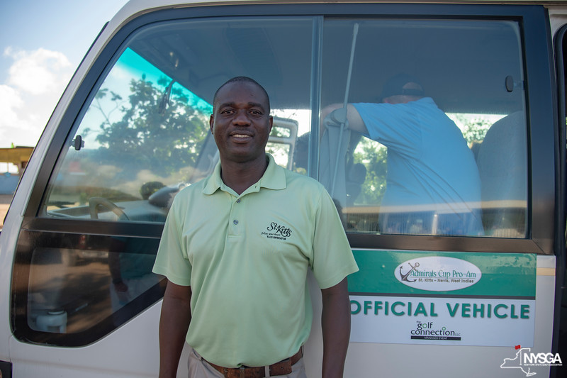 One of our friendly shuttle drivers during the 2019 St. Kitts & Nevis Admirals Cup