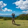 Teeing off towards the ocean at Robert Trent Jones II Golf Course at Four Seasons Resort on Nevis