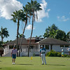 Players preparing for opening round of 2019 St. Kitts & Nevis Admirals Cup at Robert Trent Jones II Course at Four Seasons Resort on Nevis.