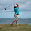 Teeing off next to the Atlantic Ocean at the 2019 St. Kitts & Nevis Admirals Cup