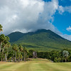 A look towards Mt. Nevis, a dormant volcano that overlooks Robert Trent Jones II Course at Four Seasons Resort