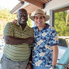 Two friends enjoying themselves at 2019 St. Kitts & Nevis Admirals Cup