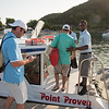 Getting on the water taxi heading to Nevis for the opening rounds of the 10th Admirals Cup