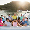 Players on the water taxi heading to Nevis for the opening rounds of the 10th Admirals Cup