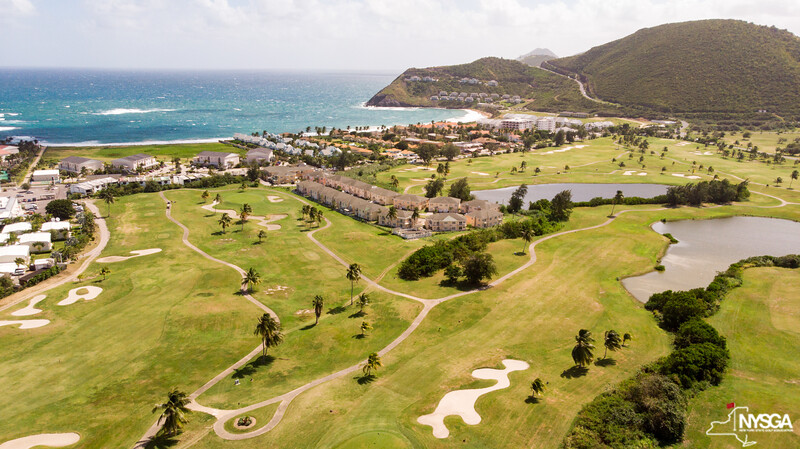 Aerial view of Royal St Kitts Golf Club