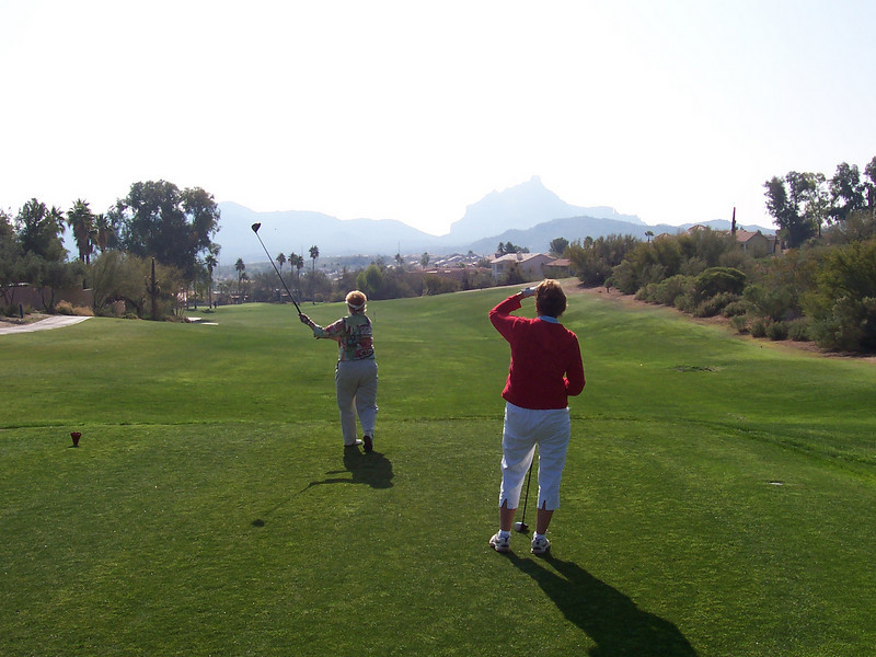 1st tee shot Desert Canyon Golf Resort Fountain Hills AZ