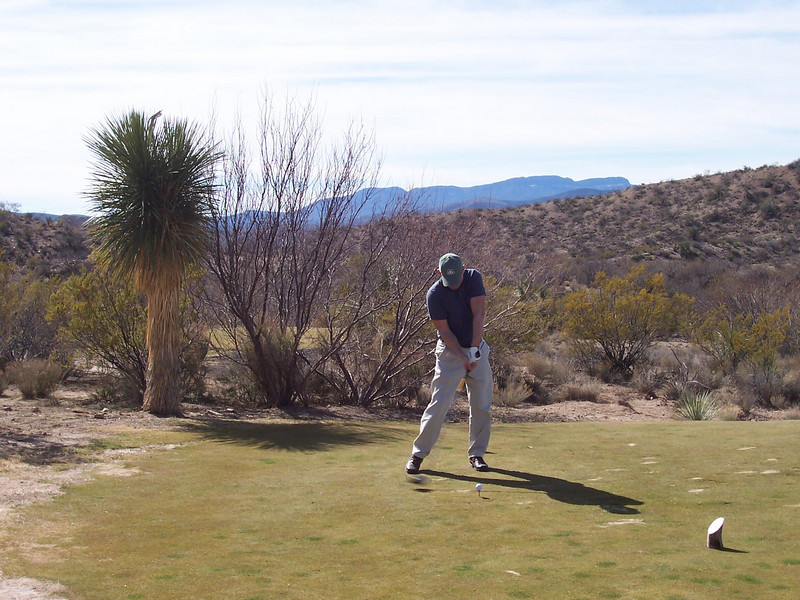Stan with Tee Shot at Golf Canyon Golf Resort