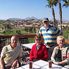 Drinks (Diet Coke) after competitive round at Desert Canyon Golf Resort.