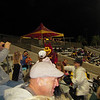 Night time activity.  Arizona State Devil.  at softball game with Michigan State.