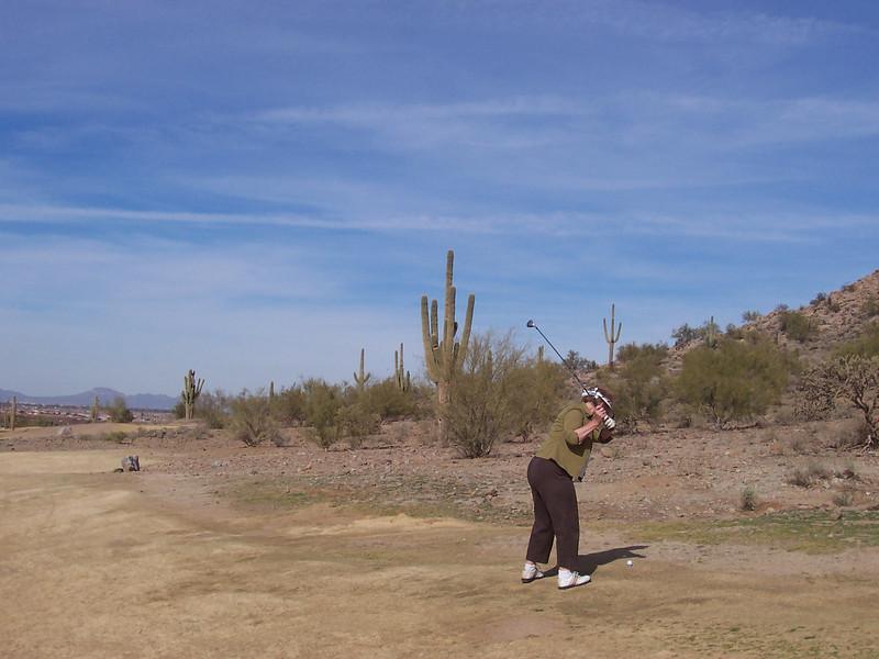 Desert Golf shot