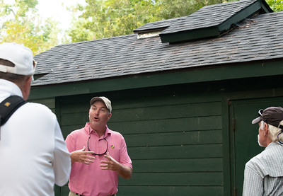 Jeff Miller will be our guide for the next two hours, teaching us about our golf course, and answering lots of questions.