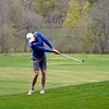 BEN GARVER — THE BERKSHIRE EAGLE<br /> Andrew Consolati was the first golfer to take to the links at the Stockbridge Golf Club, Thursday, May 7, 2020.