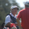 Assistant Coach Jim Douglas caddied for Nicholas Reach at the 2012 Stadion Classic.<br /> <br /> (Photo by Steven Colquitt)