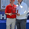 SEC medalist Lee McCoy with Commissioner Greg Sankey. (Photo by Steven Colquitt)
