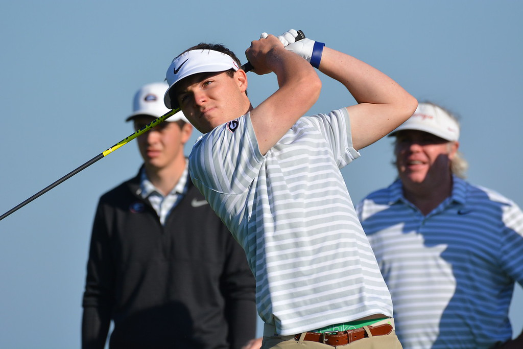Georgia's Trevor Phillips during the SEC Championship at Sea Island Golf Club on St. Simons Island, Ga., on Wednesday, April 25, 2018. (Photo by Steven Colquitt)