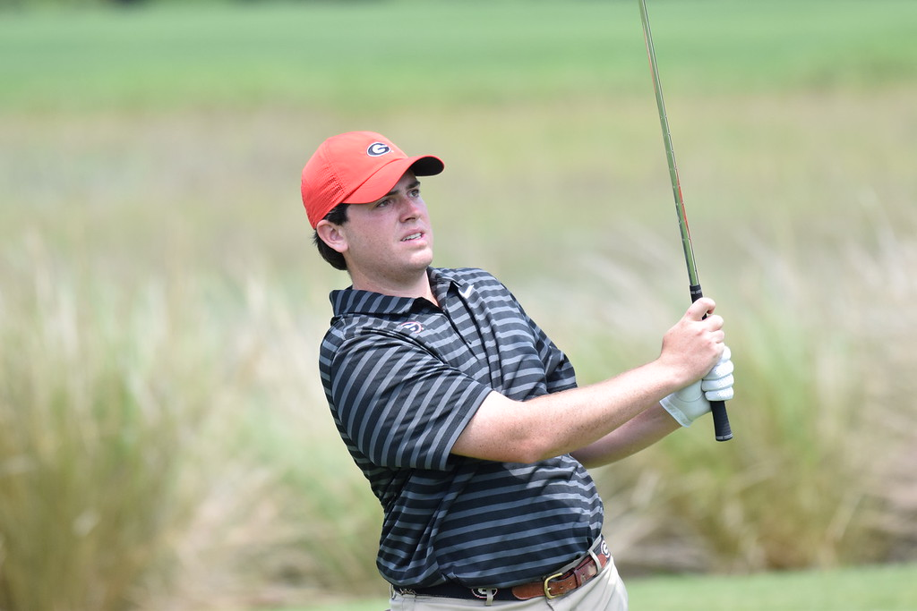 Georgia's Spencer Ralston during the SEC Championship at Sea Island Golf Club on St. Simons Island, Ga., on Thursday, April 26, 2018. (Photo by Steven Colquitt)