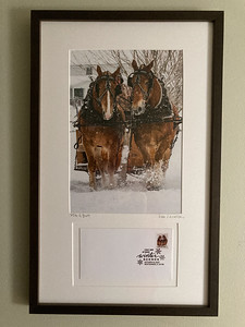 Framed, SIgned Photo with FIrst Day Cover