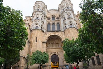 Malaga catedral - backdoor