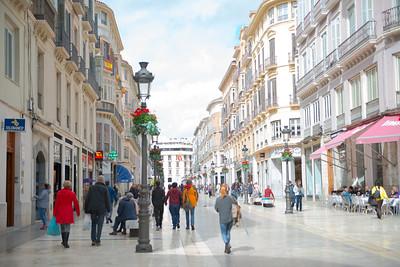 Downtown Malaga, Spain - March 2018