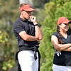 Georgia head coach Josh Brewer and Georgia's Rinko Mitsunaga during the first round of the 46th annual Liz Murphey Collegiate Classic on the University of Georgia Golf Course in Athens, Ga., on Friday, April 13, 2018. (Photo by Steven Colquitt)