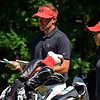 Georgia head coach Josh Brewer (left) and Rinko Mitsunaga during the NCAA Regional at the UGA Golf Course in Athens, Ga., on Tuesday, May 9, 2017. (Photo by Steven Colquitt)