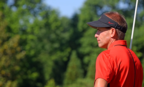 Georgia head coach Josh Brewer during the NCAA Athens Regional at the University of Georgia Golf Course in Athens, Ga., on Wednesday, May 10, 2017. (Photo by Steven Colquitt)