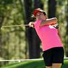Georgia's Jillian Hollis tees off during the Liz Murphey Collegiate Classic at the UGA Golf Course on Saturday, April 2, 2016, in Athens, Ga. (Photo by David Barnes)