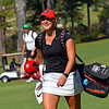 Georgia's Bailey Tardy laughs with a spectator during the NCAA Regional at the UGA Golf Course in Athens, Ga., on Tuesday, May 9, 2017. (Photo by Steven Colquitt)