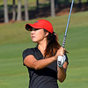 Georgia's Harang Lee watches her approach during the NCAA Regional at the UGA Golf Course in Athens, Ga., on Tuesday, May 9, 2017. (Photo by Steven Colquitt)