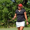 Georgia's Bailey Tardy leaves the green during the NCAA Regional at the UGA Golf Course in Athens, Ga., on Tuesday, May 9, 2017. (Photo by Steven Colquitt)