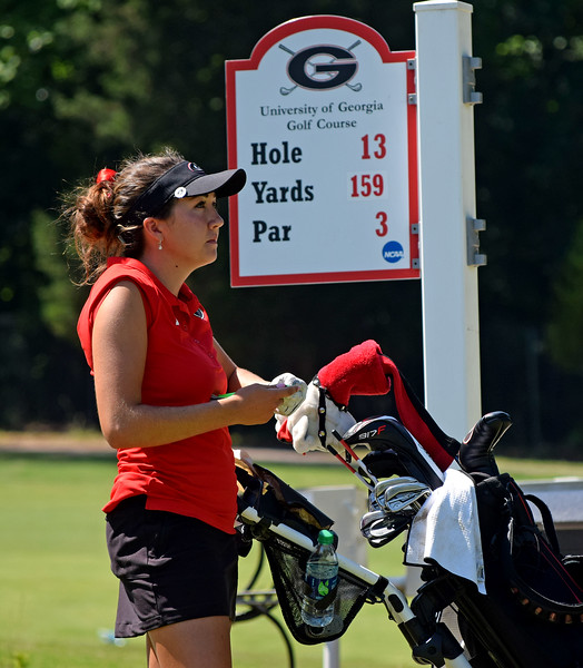 Georgia's Jillian Hollis during the third and final round of the NCAA Women's Golf Athens Regional at the UGA Golf Course on Wednesday, May 10, 2017.  (Photo by Steven Colquitt/Georgia Sports Communication)