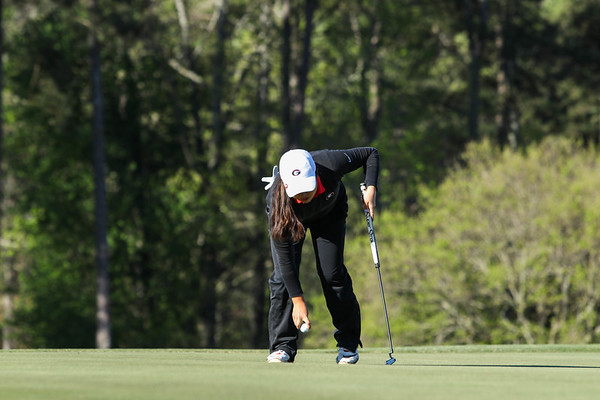 Georgia's Rinko Mitsunaga during the Liz Murphey Collegiate Classic at the University of Georgia Golf Course in Athens, Ga. on Friday, April 7, 2017. (Photo by Cory A. Cole)