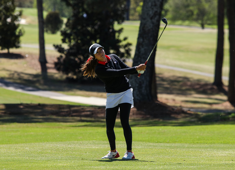 Georgia's Jillian Hollis during the Liz Murphey Collegiate Classic at the UGA Golf Course during Friday's stroke play. (Photo by Cory A. Cole / Georgia Sports Communication)
