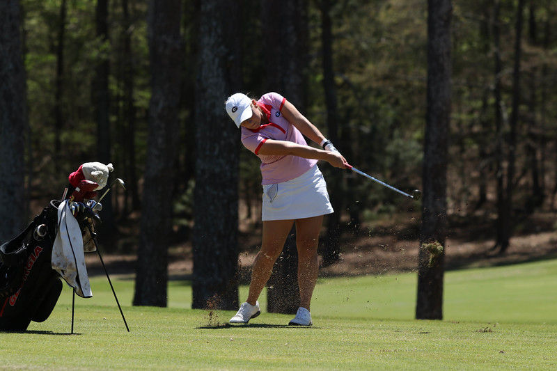 Georgia's Bailey Tardy competes during the 45th annual Liz Murphey Collegiate Classic at the UGA Golf Course in Athens, GA (Photo by Cory A. Cole / Georgia Sports Communication)