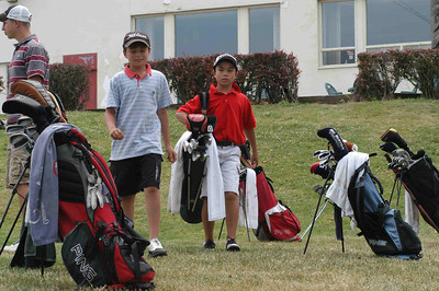 July 17, 2007      CANUSA Golf Tryout at the Chedoke Martin GC    Ben and Nick prep for the 11 and Under